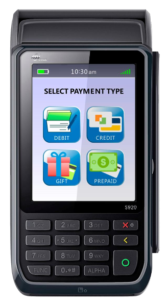 Wireless Credit Card Processing Terminal S920